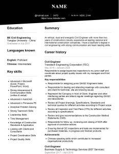 رزومه کاری برای استرالیا