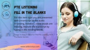 pte Listening Fill in the blanks