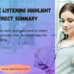 pte Listening Highlight correct summary