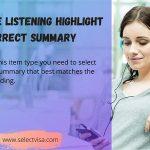 pte Listening Highlight correct summary