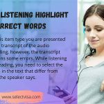 pte Listening Highlight incorrect words