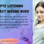 pte Listening Select missing word