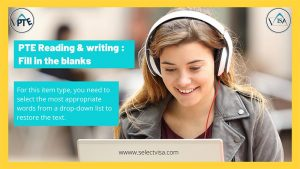 PTE Reading & writing : Fill in the blanks
