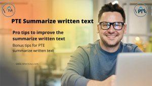 Summarize written text pte